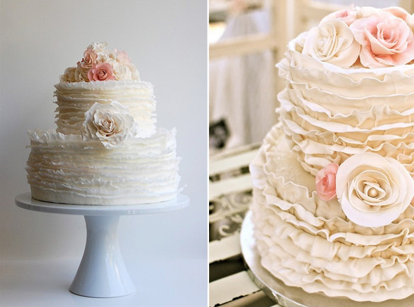 Pinterest Trends: Ruffled Wedding Cakes  Mayhar Design